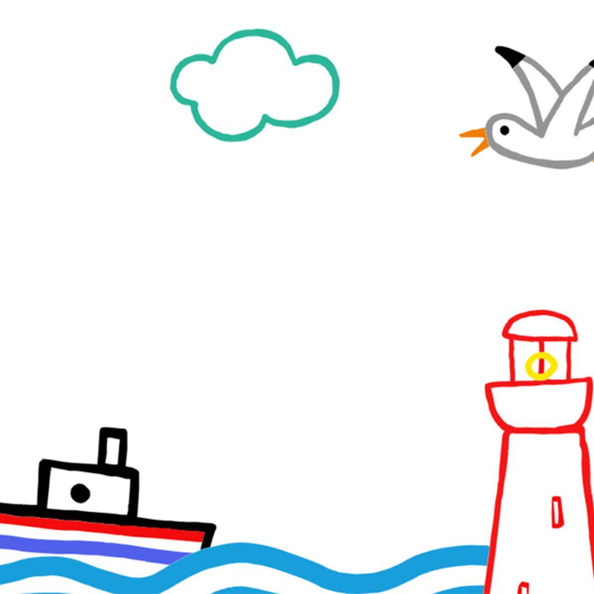 Mer, phare, bateau |