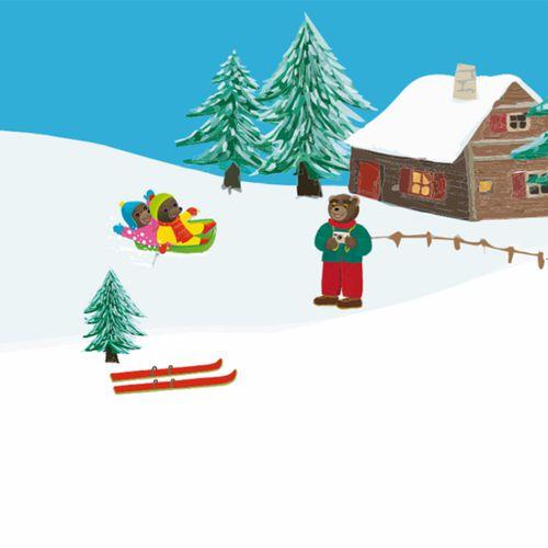 Les sports d'hiver | Danièle Bour (illustrateur)