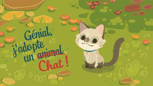 Génial, j'adopte un chat ! | Florence Blanquart  (auteur)